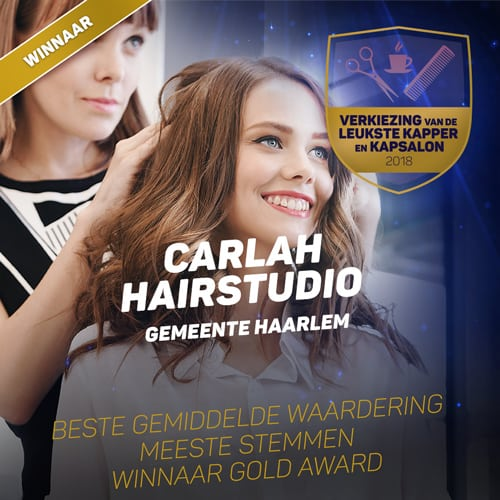 Carlah Hairsalon is gold award winner of Best Hairsalon Haarlem