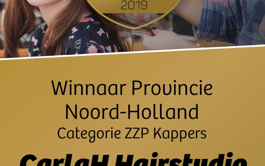 CarlaH Hairstudio wins the award for best hairdresser in North-Holland